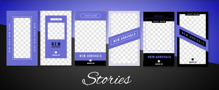 Trendy stories design template for fashion brand promotion on  web app