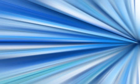 Blue and white speed lines background - Light tunnel