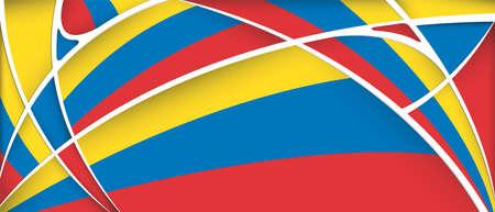 bandera de venezuela: Resumen de fondo con los colores de Colombia, Ecuador o Venezuela flag - Imagen vectorial