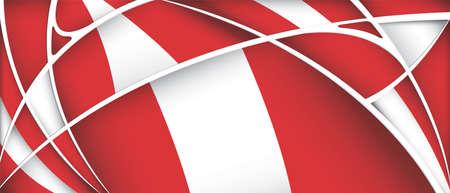 Abstract background with colors of Peru flag - Vector image Illusztráció
