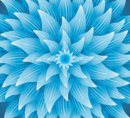 Concentric blue flower texture - Abstract background