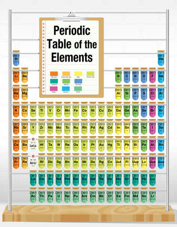 Periodic table of the elements consisting of test tubes with 66675175 periodic table of the elements consisting of test tubes with the names and number of each element chemistry urtaz Image collections