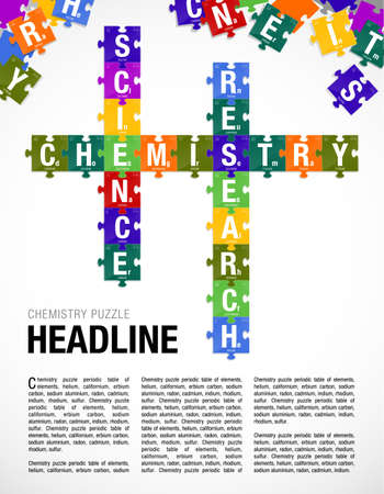 Words Chemistry Science Research Formed By Symbols Of The Periodic