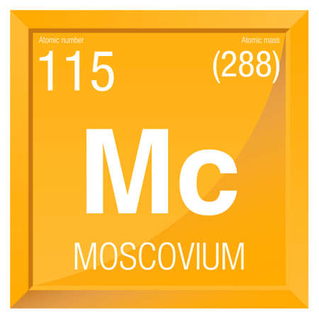 Moscovium Symbol Element Number 115 Of The Periodic Table Of