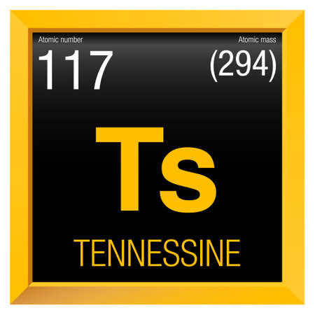 Tennessine Symbol Element Number 117 Of The Periodic Table Of