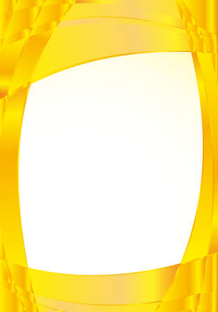 image size: Abstract yellow background with waves and a white square in the middle to place texts. A4 size - 21cm x 30cm - Vector image Illustration