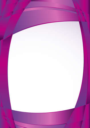 image size: Abstract violet background with waves and a white square in the middle to place texts. A4 size - 21cm x 30cm - Vector image
