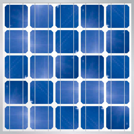image size: Photovoltaic solar panel module background - Renewable Energy - Size: 1200 x 1200 px - Vector image