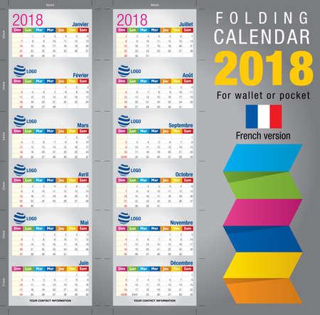Useful Two Sided Calendar Calendar 2018 For Wallet Or Pocket