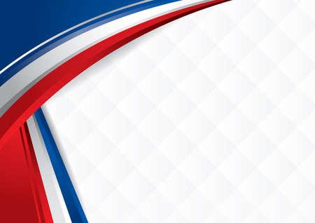 미국 국기의 색상을 추상 셰이프.