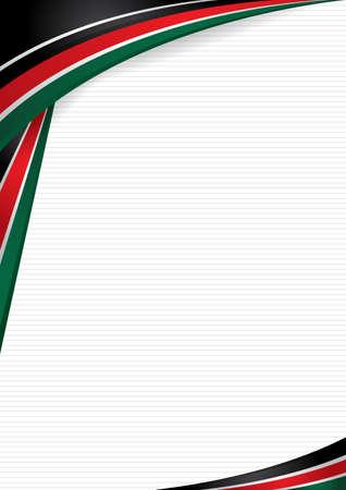 Abstracte vormen met de kleuren van de vlag van Kenia.