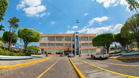 Nueva Loja, Sucumbios / Ecuador - January 5 2020: View of the City Hall building located in the center of the city of Nueva Loja, also known as Lago Agrio