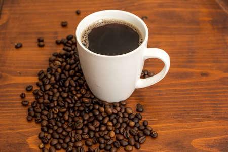 stimulating: a mug of fresh, stimulating coffee