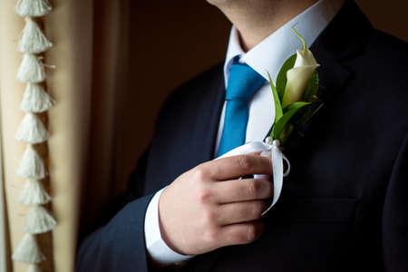 boutonniere: wedding boutonniere Stock Photo