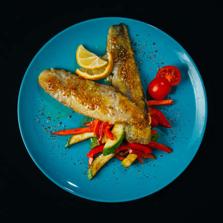 Different dishes with sea food and fish are basis of a healthy diet