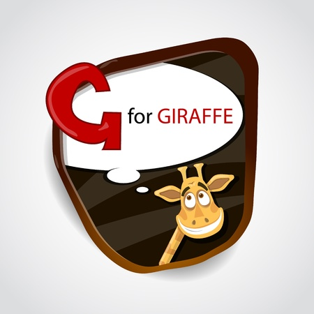 g giraffe: The English alphabet of animal theme  G for Giraffe  Vector illustration Illustration