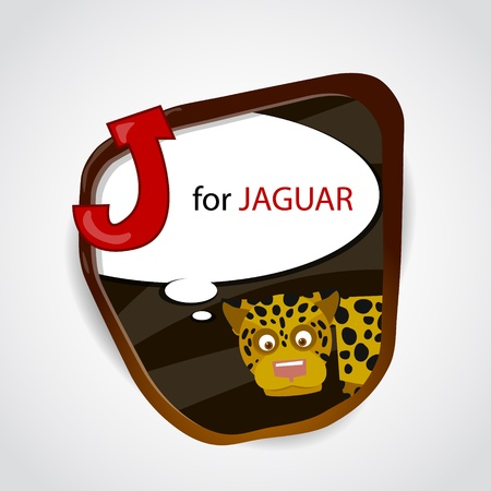 The English alphabet of animal theme  J for Jaguar  Vector illustration Vector