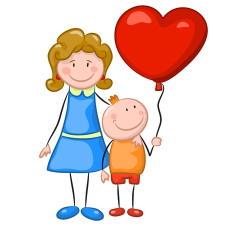 Mother and son  Vector illustration Vector