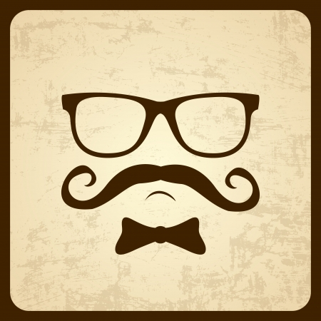 Vintage silhouette of mustaches  Vector illustration  Stock Vector - 20130597