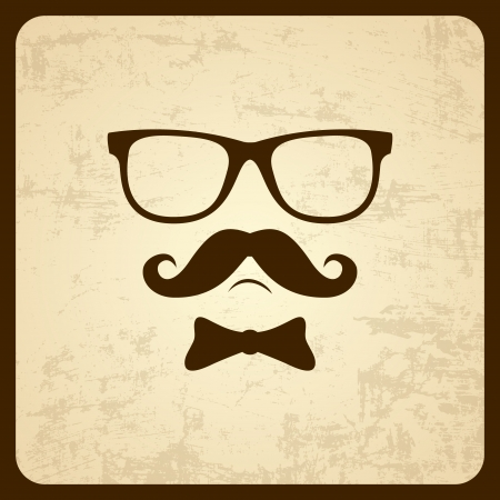 Vintage silhouette of mustaches   Vector illustration  Vector