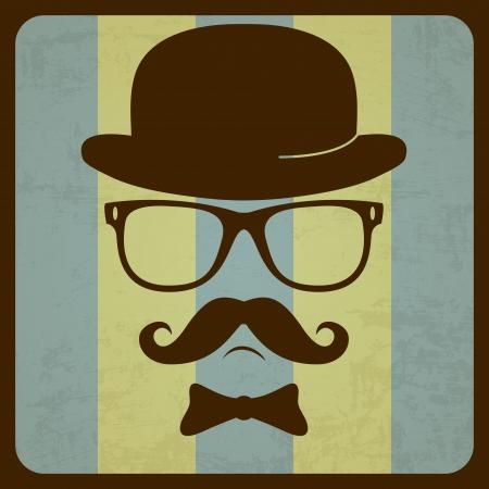 Vintage silhouette of mustaches Vector illustration Векторная Иллюстрация