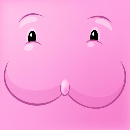 ridicolo: Ridicolo rosa Vector illustration coniglio