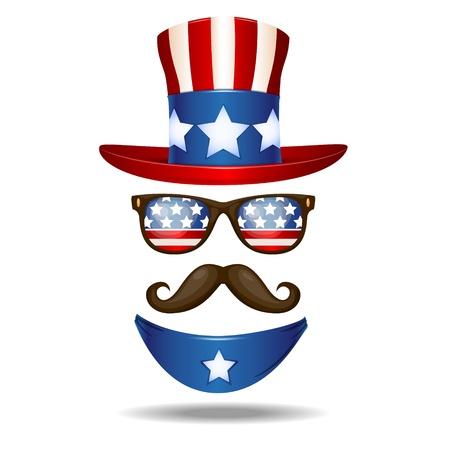 mister: American cowboy  Vector illustration