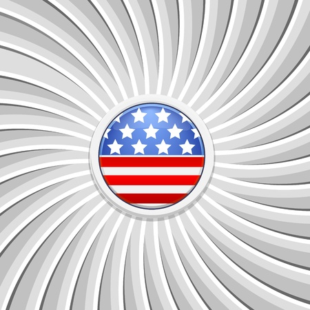 White background on the theme of July 4th. illustration Vector