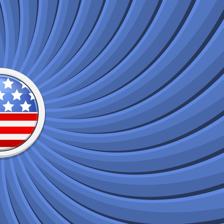 Blue background on the theme of July 4th illustration Vector