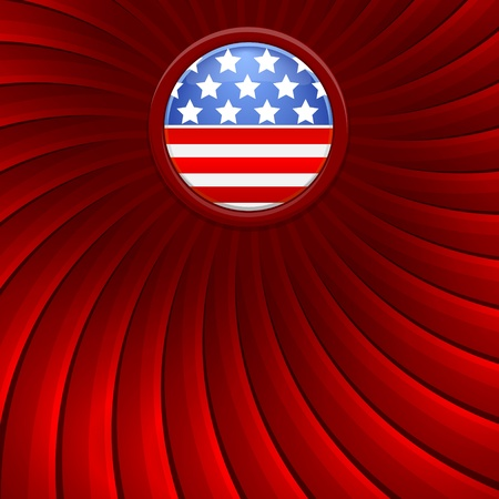 Red background on the theme of July 4th illustration Vector