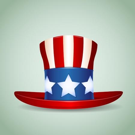 sam: 4 of July celebration hat icon  Illustration