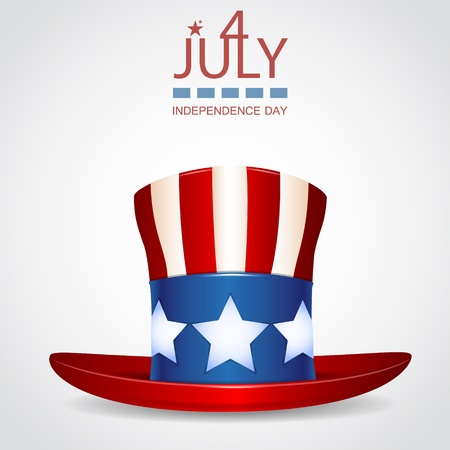 4 of July celebration hat icon  Vector