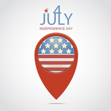 4 July illustration Vector