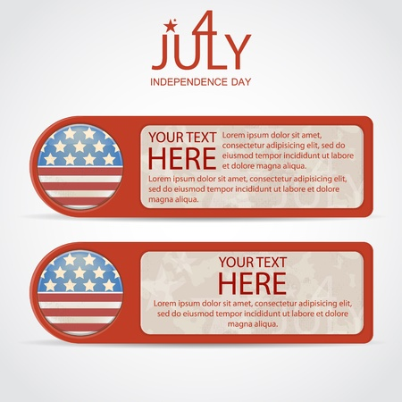 Banners by July 4th illustration Vector
