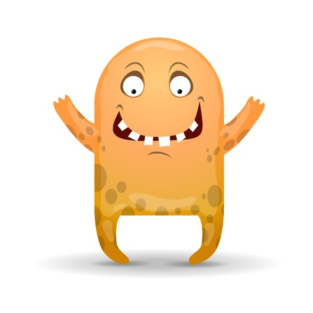 Amusing monster illustration Vector