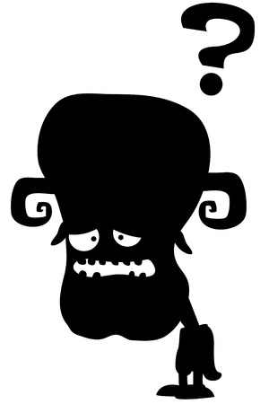 black monster illustration Stock Vector - 20502043