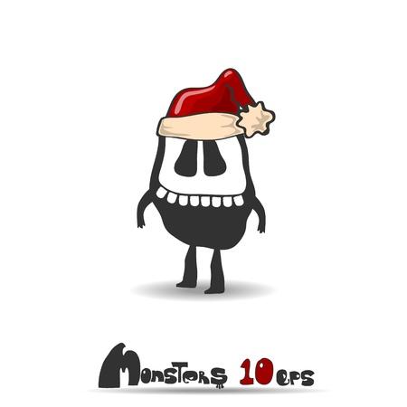 Black monster  Christmas theme  Vector illustration 10 eps Stock Vector - 20744423