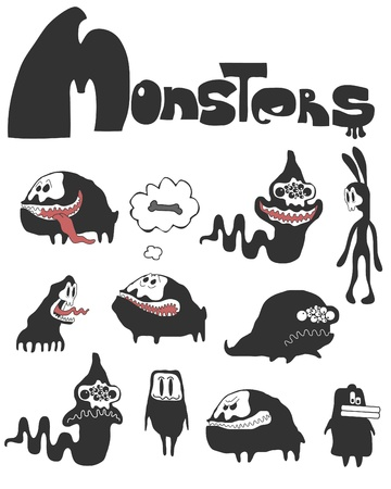 The set of monsters.  Vector