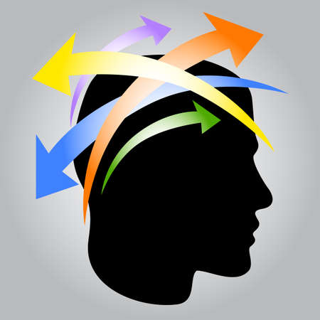 new idea: New Idea Icon The thoughts of a person.