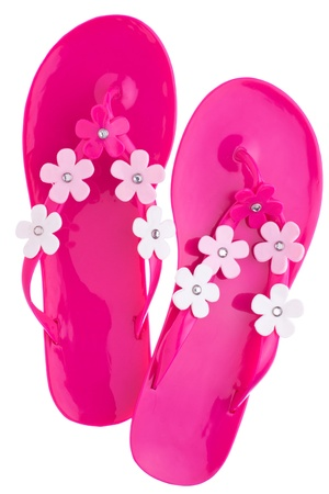 Pink chanclas photo