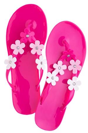 Pink flip flops photo