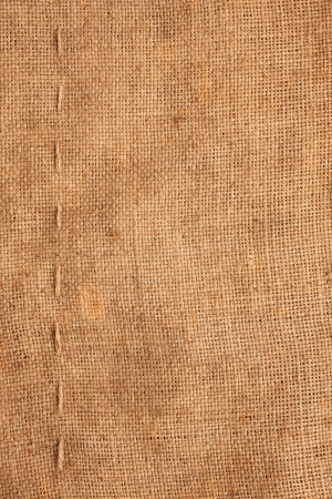 Line, guy-sutures on  Burlap ,sacking, it is possible to use as a background photo