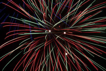 Fireworks in front of black background  photo