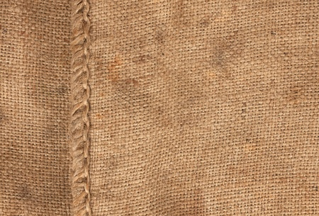 large seam on sackcloth can use as background