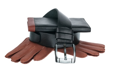 animal pouch: Men Stock Photo