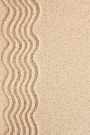Wavy sand with space for text, menu, texture photo
