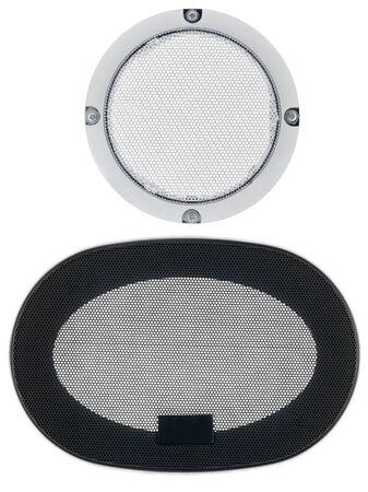 Grid speaker isolated on white background photo