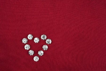Heart made ​​of rhinestones, can be used as background photo