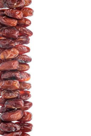 dates fruit: Dried date, isolated on white background