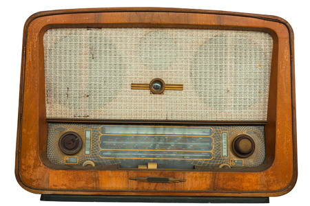 vintage radio: Old radio, isolated on white background
